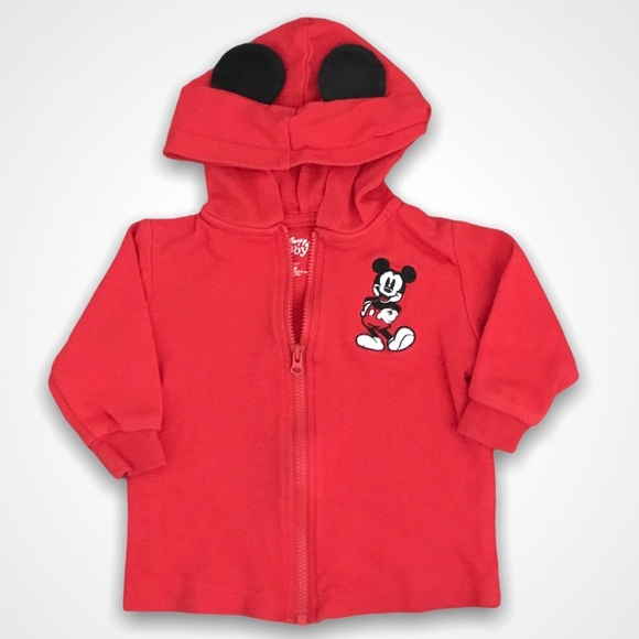 4/$20🥳 Disney Mickey Mouse Red Zip Up Jacket
